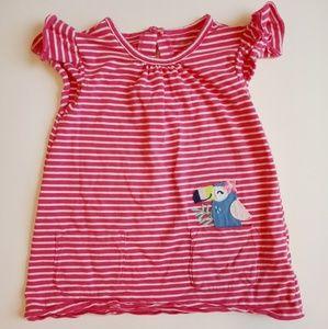Carter's - 4T Toucan Pink Girls Striped Shirt